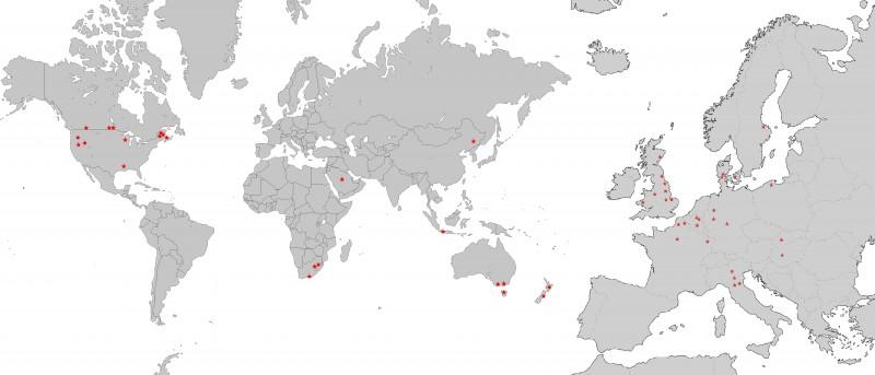 Kaart werkzaamheden De Kleijn in buitenland